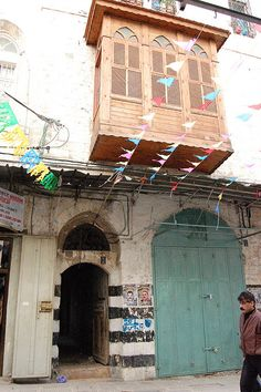 Egyptian-style Mashrabiya in Nablus' Old City