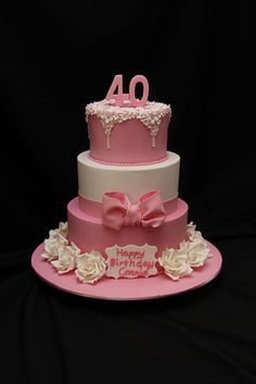Connie's 40th Birthday by Designer Cakes By Effie, via Flickr
