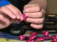 Tecnica flor kanzashi en cinta raso