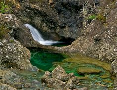 The Fairy Pools, Magical place in the heart of the Cuilins. Series of waterfalls & deep pools.