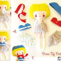 DollsAndDaydreams / Dress Up Doll Sewing Pattern