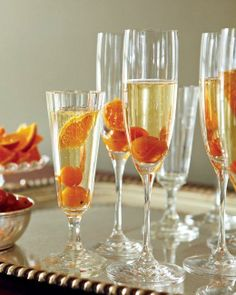 Valentine's Day Cocktails // Kumquat-Champagne Cocktails Recipe