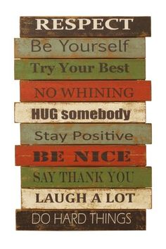 Positive thoughts!  Wood Word Decor by Rustic Trading Decor!
