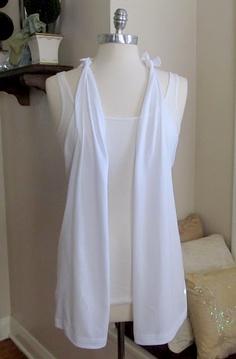 DIY No Sew T-shirt Vest