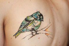 Watercolor bird tattoo for @Lara Elliott Elizabeth