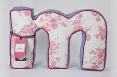 A #cuddly initial pillow! #typography