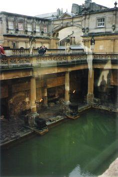 The Roman Baths in Bath, England