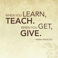 Learn. Teach. Get. G