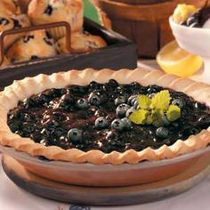 Cream Cheese Blueberry Pie
