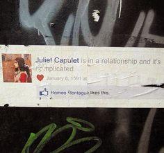 Romeo & Juliet Facebook Street Art