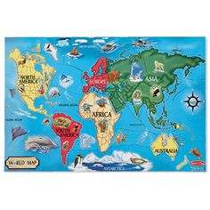 World Map Floor Puzzle by Melissa & Doug