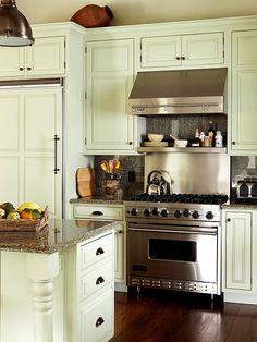 stove surround , fridge cabinet & fridge front