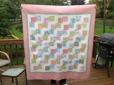 Falling charms quilt
