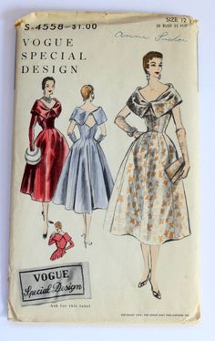 Vogue S-4558, ca 1954; Sz 12/Bust 30