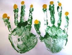fingerpaint hand menorah craft