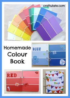 Homemade Colour Book made from paint swatches - Craftulate