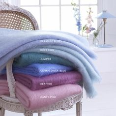 Mohair Throw Jewel C