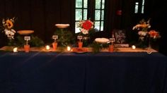 Such a fun wedding pie table at Happy Days Lodge! Who needs cake when you have pie?