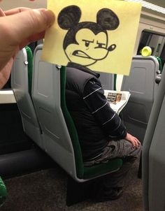 Someone with some serious talent got bored on the train! train