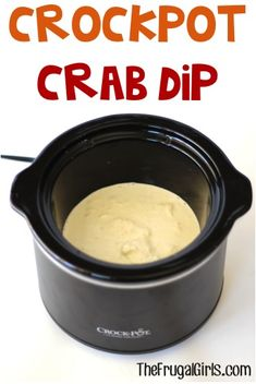 Crockpot Crab Dip Recipe! ~ from TheFrugalGirls.com ~ perfect for your parties and holiday meals! It's so easy and SO good!! #slowcooker #recipes #thefrugalgirls