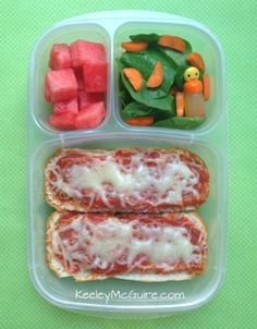 Lunch Made Easy: #GlutenFree Pizza Boats Kids School Lunchbox Ideas @EasyLunchboxes