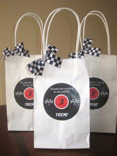 Race Car Birthday Party Favors  #racecar #partyfavors