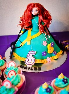 Doll cake at a Brave Party #brave #partycake