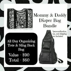 A great bag for mom and dad!!  September only!  www.mythirtyone.com/ajbagsgalore/