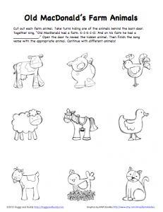 Peek-A-Boo Farm Animals Activity (Free Printable) - Buggy and Buddy