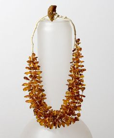 Baltic cognac amber knotted necklace 7 by HeymesBalticAmber, €130.00