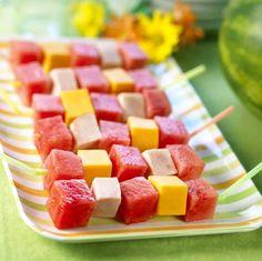 idea, boy parti, boy party, watermelon kebab, food, parties, kebabs, fun recip, watermelons