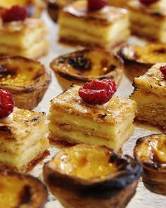 When in Lisbon, try the region's signature custard tarts, Pasteis de Nata. We dare you to stop at one.