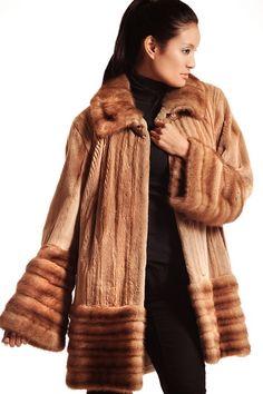 Light Sheared Mink with Mink Trim: Fall 2013-Winter 2014. #fall2013 #furfashion #shearedmink #minktrim