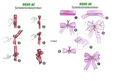 schleifen binden on pinterest ribbon bows bows and pink. Black Bedroom Furniture Sets. Home Design Ideas