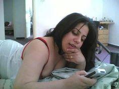 Beautiful Lebanese Girl Using Mobile