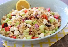 Grilled Mediterranean Chicken and Quinoa Salad | Skinnytaste