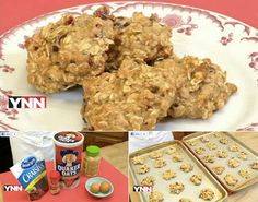 Applesauce Oatmeal Cookies: Here's a healthy fall inspired cookie recipe that substitutes applesauce for butter. The kids will love them!