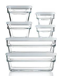 Martha Stewart Collection Food Storage Container Set, 12 Piece Save & Store - Kitchen Gadgets - Kitchen - Macy's Bridal and Wedding Registry