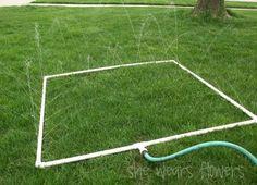 DIY: Awesome homemade sprinkler  #sprinkler #diy #summer