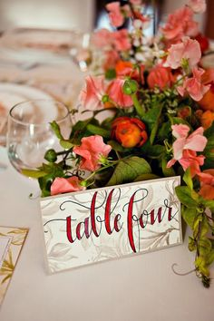 Table Numbers - great font!