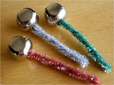 Art Ideas for even the littlest crafters- jingle bells with pipe cleaners preschool-christmas-ideas