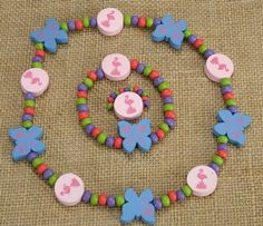 Kids Wooden Jewelry Set - Flamingo at theBIGzoo.com, a toy store featuring 3,000+ stuffed animals.