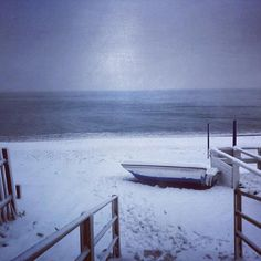 #snow #beach #Loano #Liguria