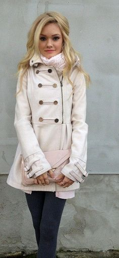 peacoat, winter jackets, fashionista, cloth, soft pink, winter style, winter looks, winter outfits, winter coats