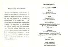 Genealogist Journal: Funeral Card Friday: Baxter Reuben Lowe