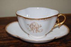Turn of the century monogrammed teacup