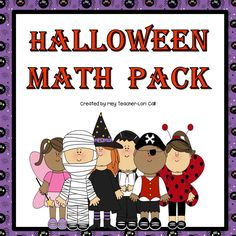 UPDATED October 2014! This Halloween Math Pack includes 6 math games/activities that are perfect for math stations or centers and Halloween math worksheets(color by number and graphing).