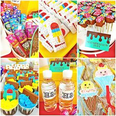 ice cream themed birthday party #personalized #kids #dessert