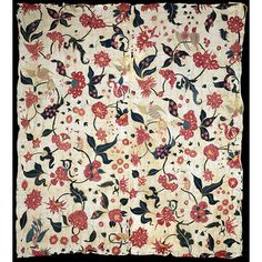 Hanging  Place of origin: Gujarat, India (made)  Date: ca. 1700 (made)  Artist/Maker: Unknown (production)  Materials and Techniques: Embroidered cotton with silk yarn