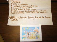classroom, school, languag art, anchor chart, educ, read idea, main ideadetail, 4th grade, teach idea
